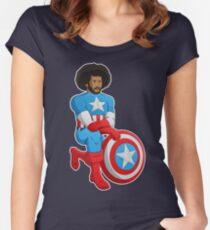 Kaeptain America Women's Fitted Scoop T-Shirt