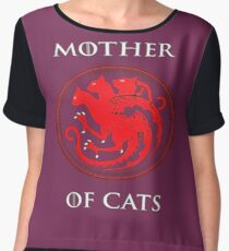 MOTHER OF CATS-GAME OF THRONES Women's Chiffon Top