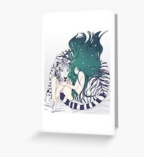 Frosty Goddess  Greeting Card