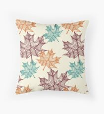 Maples Leaves Throw Pillow