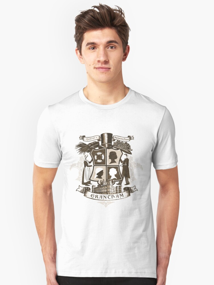 Grantham coat of arms (sepia) Unisex T-Shirt Front
