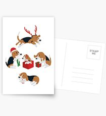 Beagle christmas Postcards