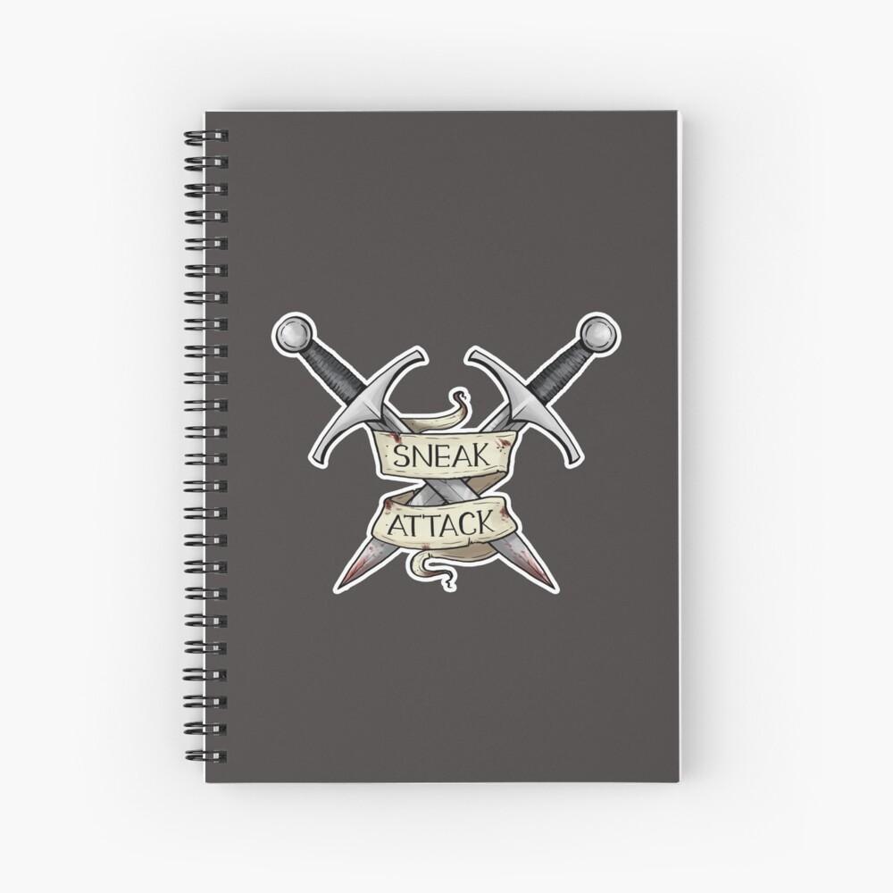 D&D - Rogue - Sneak Attack Spiral Notebook