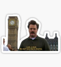 Ron Swanson and the Big Ben Sticker