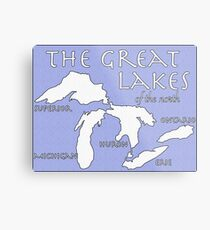 Great Lakes of the North Metal Print