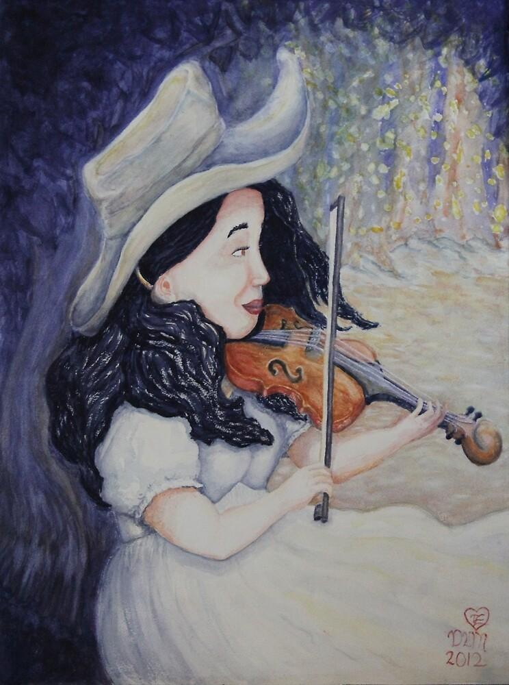 Woman's Autumnal Twilight Serenade by Dawna Morton
