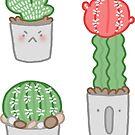 Cute Cacti Sticker Set by geothebio