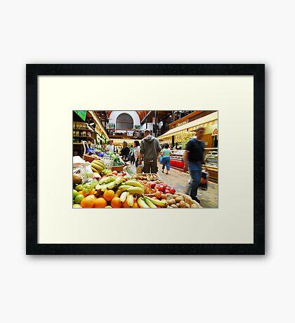 English Market Framed Print