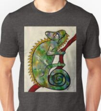 colorful chameleon on red branch T-Shirt