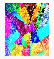 Formes géométriques multicolore Photographic Print