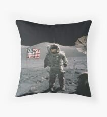 Man on the moon | Space Throw Pillow