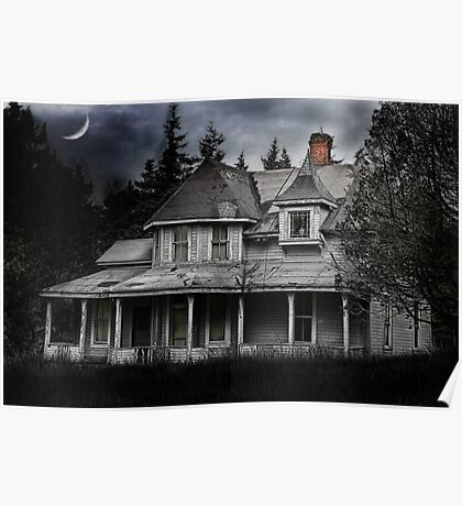 Spooky Abandoned House Poster