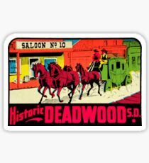 Deadwood South Dakota Vintage Travel Decal Sticker