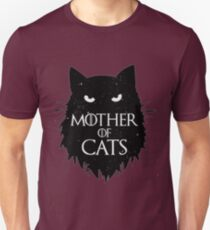 Beste Mutter der Katzen T-Shirt-Spiel der Throne Slim Fit T-Shirt