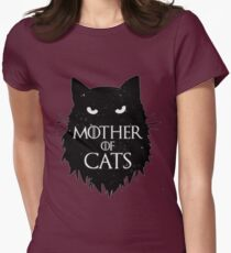 Best Mother of cats T shirt-game of thrones Women's Fitted T-Shirt