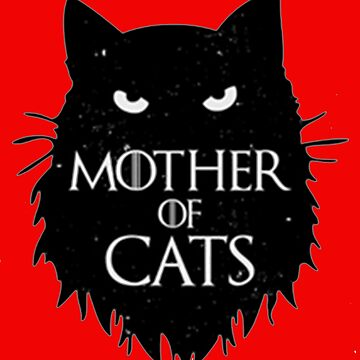 Best Mother of cats T shirt-game of thrones by kimoufaster