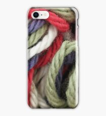 Multicolored Yarn Texture Close Up iPhone Case/Skin