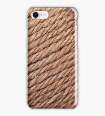 Khaki Yarn Texture Close Up iPhone Case/Skin