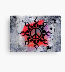 Cool Peace Sign with Paint Canvas Print