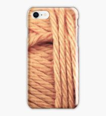 Orange Yarn Texture Close Up iPhone Case/Skin
