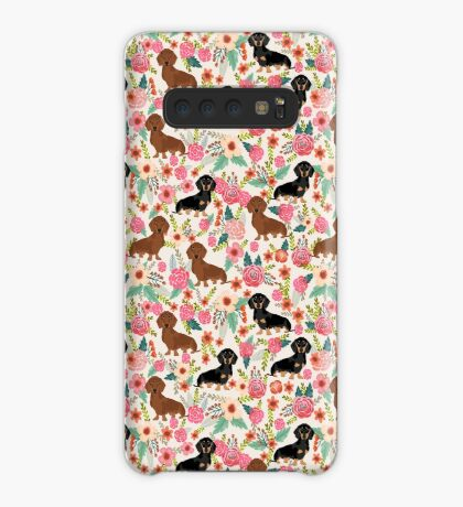 Dachshund florals dog breed pet friendly pattern gifts Case/Skin for Samsung Galaxy