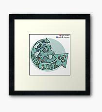 Bronzong: Metal Links Framed Print