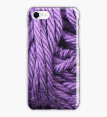 Amethyst Yarn Texture Close Up iPhone Case/Skin