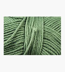 Green Yarn Texture Close Up Photographic Print