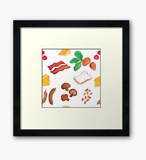 Be Fast For Breakfast! Framed Print