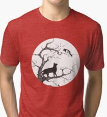 Dangerous conversations sumi-e painting Tri-blend T-Shirt