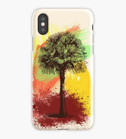 Grunge Palm Tree iPhone Case/Skin