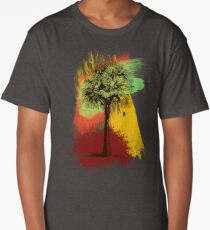 Grunge Palm Tree Long T-Shirt