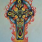 celtic cross tattoo design by imajica