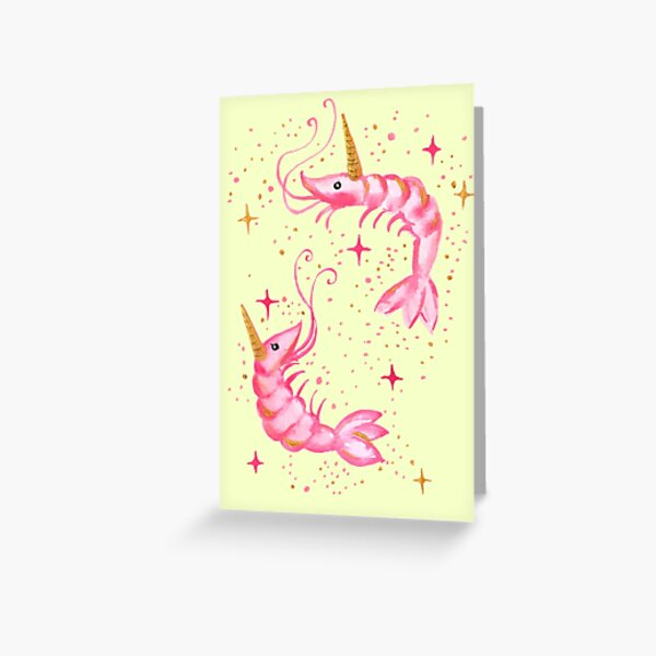 Uni-Prawn: Yellow Greeting Card