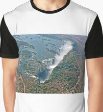 Victoria Falls from above Zimbabwe Graphic T-Shirt