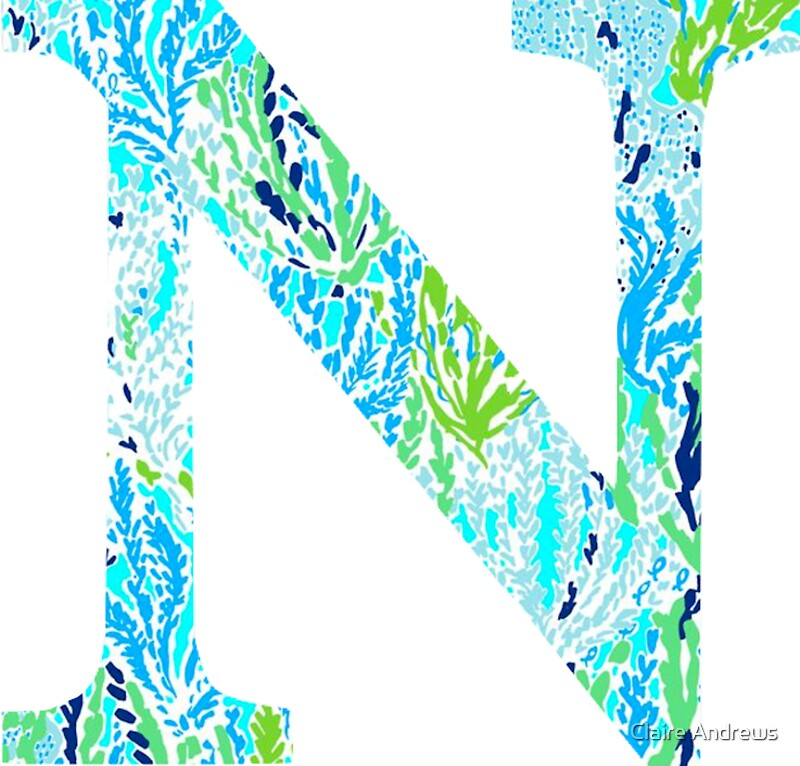 The letter n stickers by claire andrews redbubble the letter n by claire andrews sciox Gallery