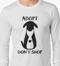 Adoptieren nicht einkaufen Langarmshirt