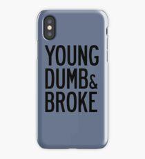 KHALID YOUNG DUMB & BROKE LYRICS iPhone Case