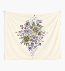 Geometric Sunflower Pattern Tapestry