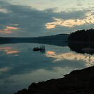 Cove, Boat, Sunset by fauselr