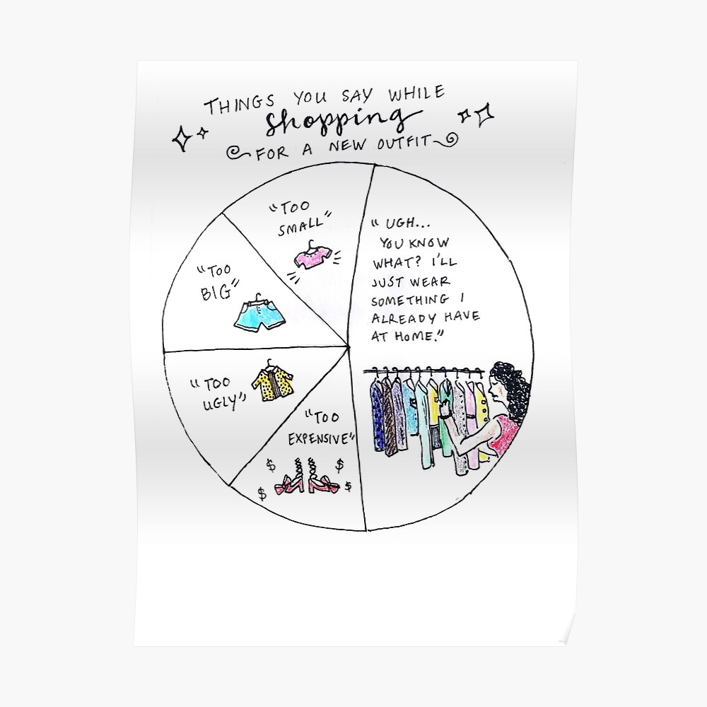 shopping comic Poster