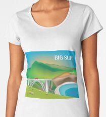 Big Sur, California - Skyline Illustration by Loose Petals Women's Premium T-Shirt