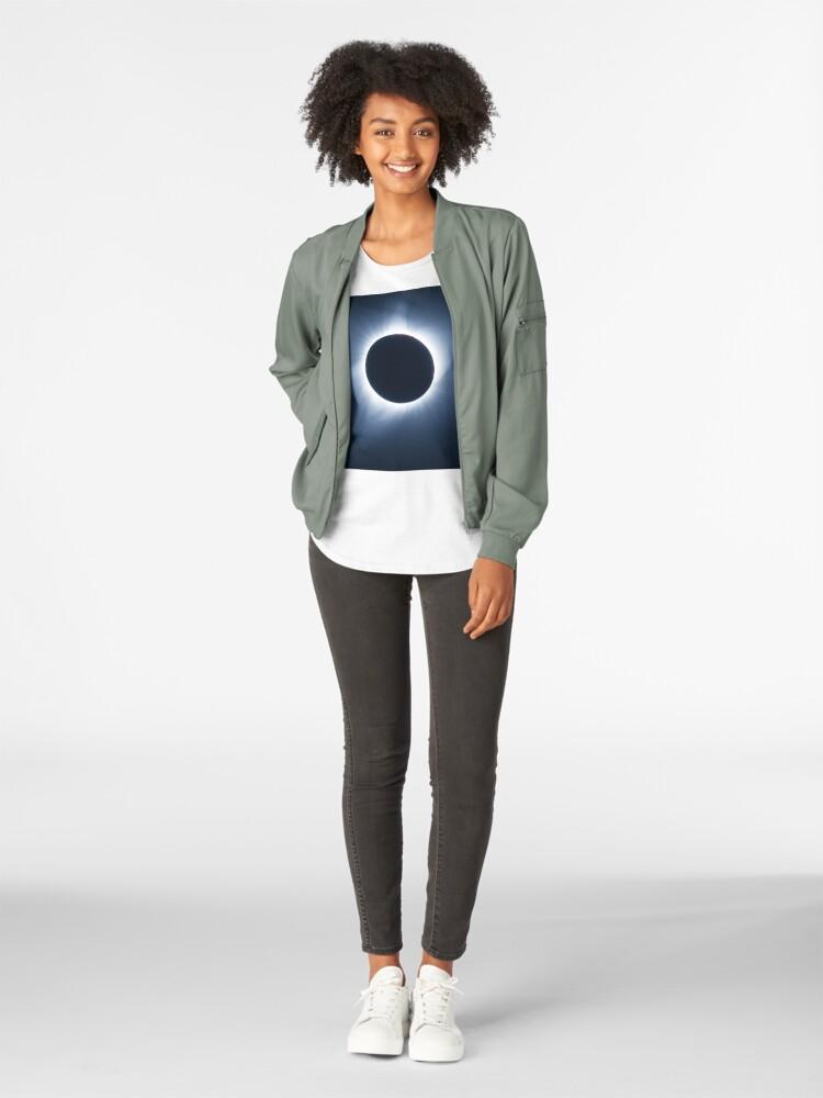 Alternate view of 2017 Solar Eclipse - Totality Corona III Premium Scoop T-Shirt
