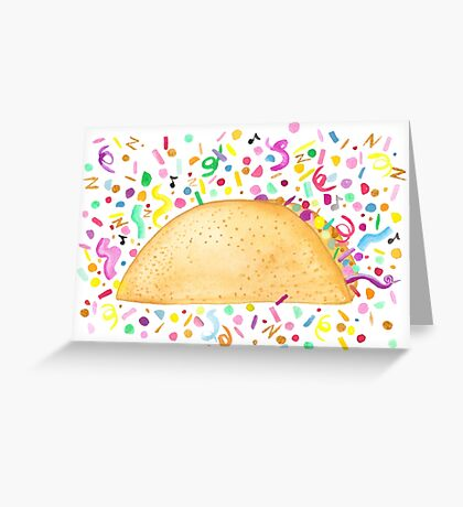 Taco 'Bout A Party - White Greeting Card