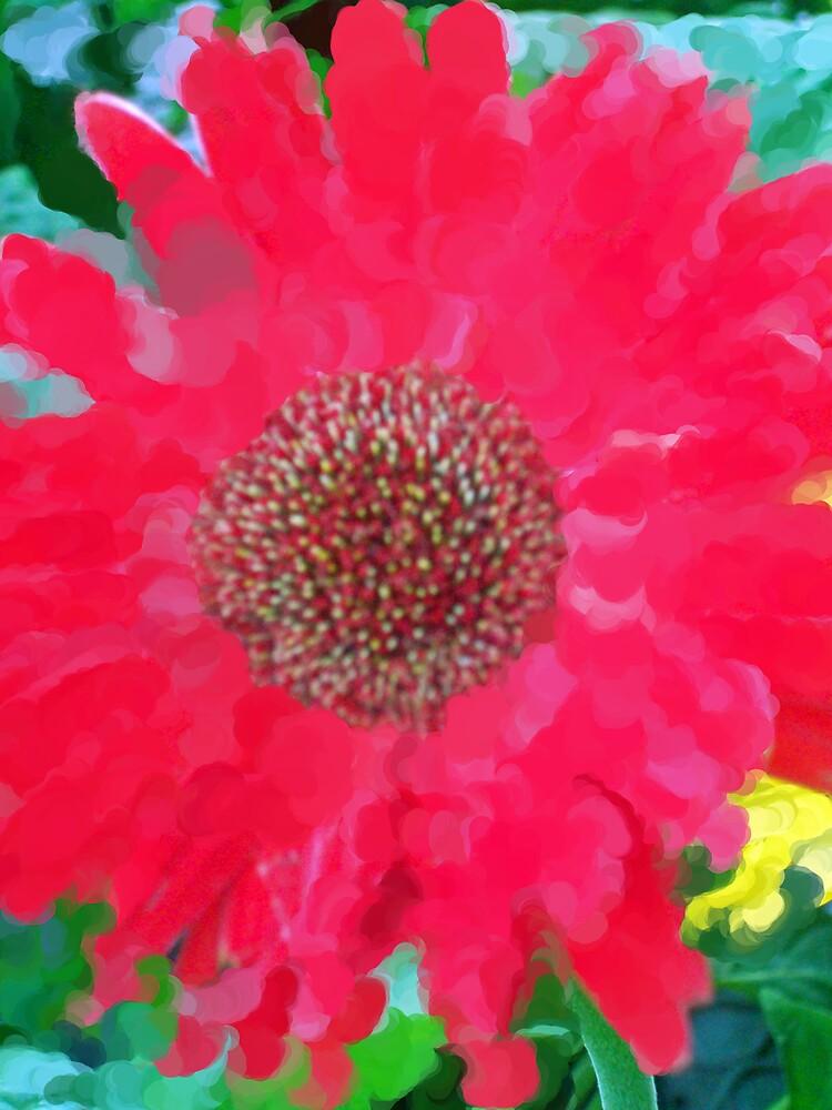Gerber Daisy Impression  by Michelle BarlondSmith