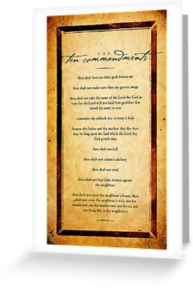The Ten Commandments by Dallas Drotz