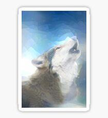 wolf art Sticker