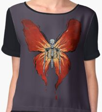 Before the storm Skelefly Women's Chiffon Top