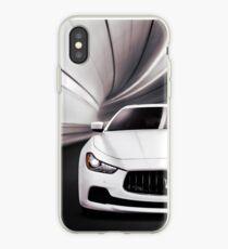 Maserati Ghibli S Q4 luxury car in a tunnel art photo print iPhone Case