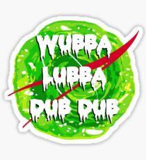 Wubba Lubba Dub Dub Nasa Sticker